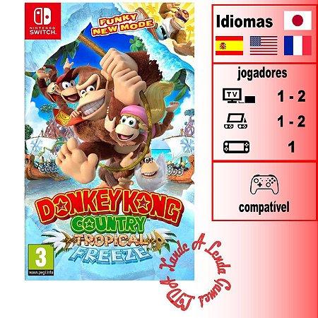 Donkey Kong Country Tropical Freeze - SWITCH - Novo [EUROPA]