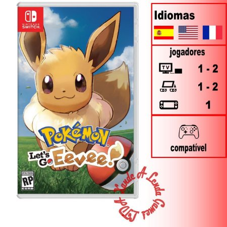 Pokémon Let's Go Eevee - SWITCH - Novo [EUA]