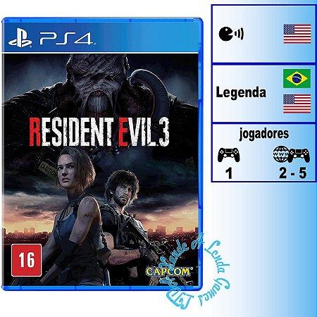 Resident Evil 3 - PS4 - Novo
