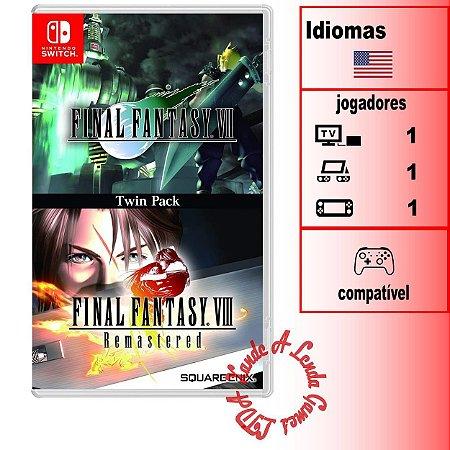 Final Fantasy VII + Final Fantasy VIII Remastered - SWITCH - Novo