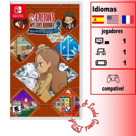 Layton's Mystery Journey: Katrielle and the Millionaires Conspiracy – Deluxe Edition  - SWITCH - Novo