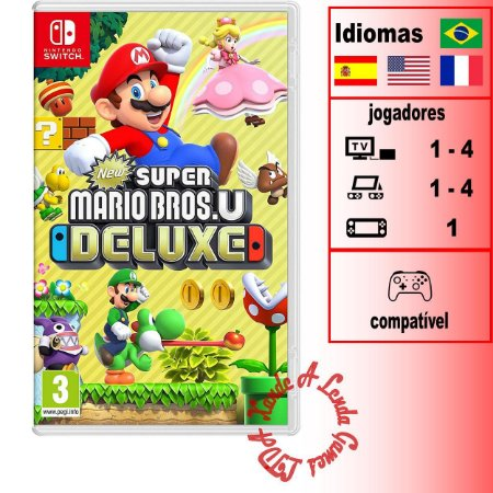 New Super Mario Bros U Deluxe  - SWITCH - Novo [EUROPA]