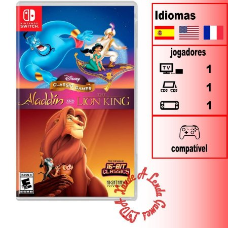 Disney Classic Games: Aladdin + O Rei Leão - SWITCH - Novo