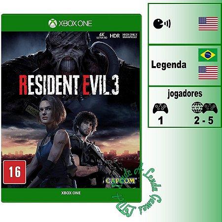 Resident Evil 3 - XBOX ONE - Novo