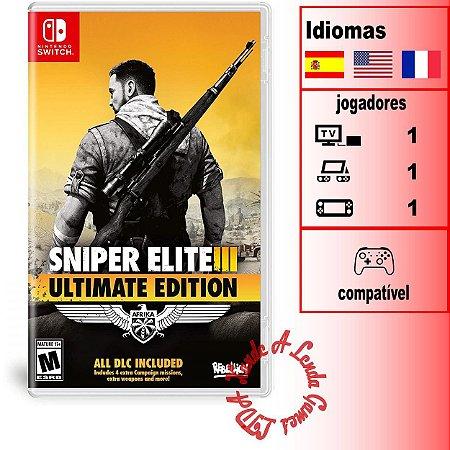 Sniper Elite 3 Ultimate Edition - SWITCH - Novo