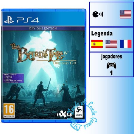 The Bard's Tale IV Director's Cut Day One Edition - PS4 - Novo