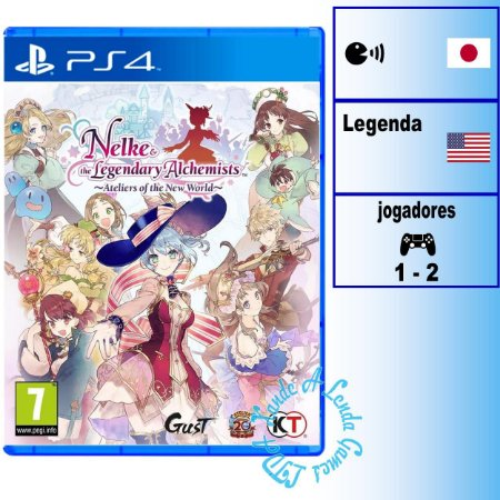 Nelke & the Legendary Alchemists: Ateliers of the New World - PS4 - Novo