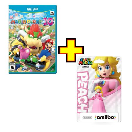 Mario Party 10 + Amiibo Peach - Wii U - Novo