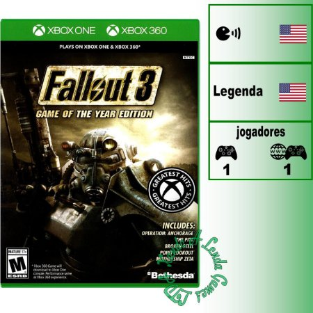 Fallout 3 Game of the Year Edition - XBOX ONE - XBOX 360 - Novo
