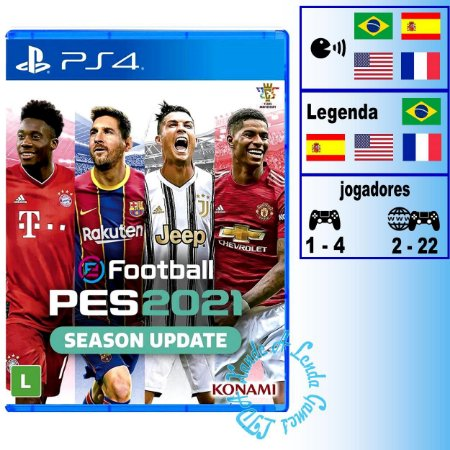 Pro Evolution Soccer 2021 (PES 2021) - PS4 - Novo