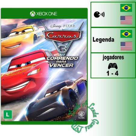 Carros 3 Correndo Para Vencer - XBOX ONE - Novo