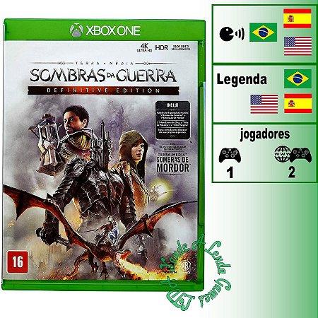 Terra Média: Sombras da Guerra Definitive Edition - XBOX ONE - Novo