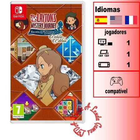 Layton's Mystery Journey: Katrielle and the Millionaires Conspiracy Deluxe Edition (EUROPEU) - SWITCH - Novo