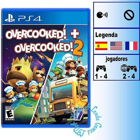 Overcooked! + Overcooked! 2 - PS4 - Novo