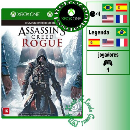 Assassin's Creed Rogue Remasterizado - XBOX 360 - XBOX ONE - Novo