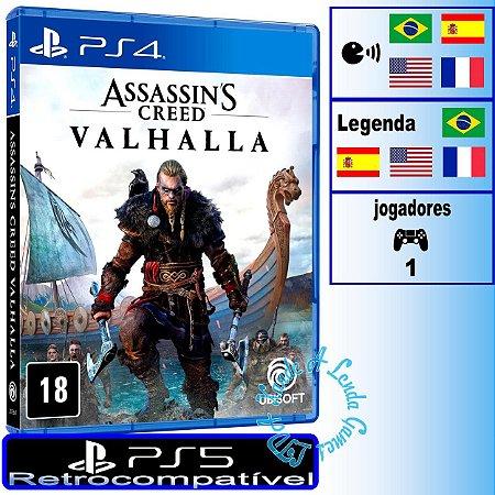 Assassin's Creed Valhalla - PS4/PS5 - Novo