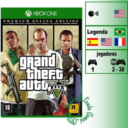 Grand Theft Auto 5 (GTA V) Premium Online Edition - XBOX ONE - Novo