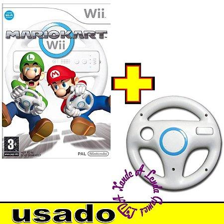 Wii Wheel Branco + Mario Kart - Wii - Usado [sem caixa]