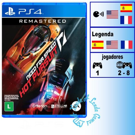Need for Speed Hot Pursuit Remasterizado - PS4 - Novo