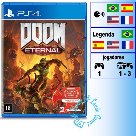 Doom Eternal - PS4 - Novo