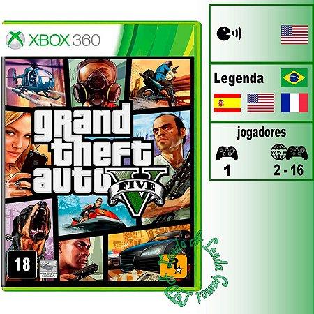 Grand Theft Auto 5 (GTA V) - XBOX 360 - Novo