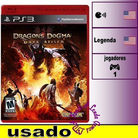 Dragon's Dogma Dark Arisen - PS3 - Usado