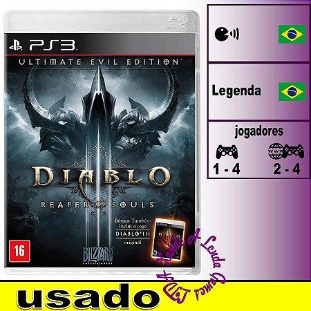 Diablo III Reaper of Souls Ultimate Evil Edition - PS3 - Usado