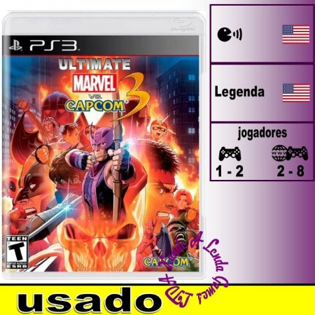 Ultimate Marvel VS Capcom 3 - PS3 - Usado