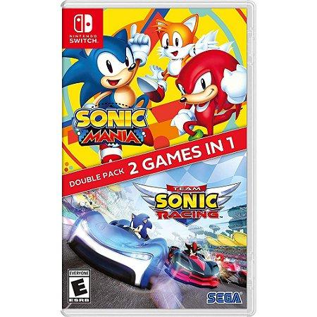 Sonic Mania + Team Sonic Racing Double Pack - SWITCH - Novo [EUA]
