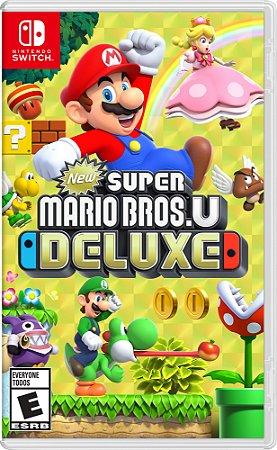 New Super Mario Bros U Deluxe  - SWITCH - Novo [EUA]
