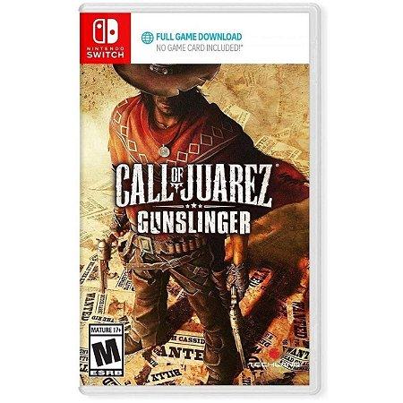 Call Of Juarez Gunslinger - SWITCH - Novo [EUA] (código para download + caixa)