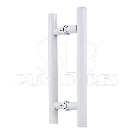 Puxador H alumínio 30X20 cm branco