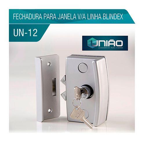 KIT 12 - FECHADURA PARA JANELA V/A LINHA BLINDEX