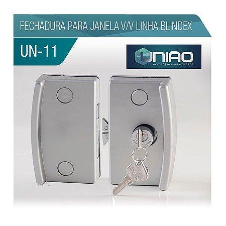 KIT 11 - FECHADURA PARA JANELA V/V LINHA BLINDEX