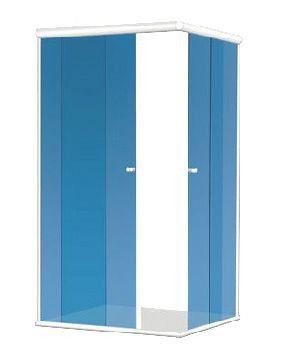 KIT BOX CT 1,20X1,20X1,90 (Acessórios + Perfis) para 1 vidro fixo e 1 vidro móvel