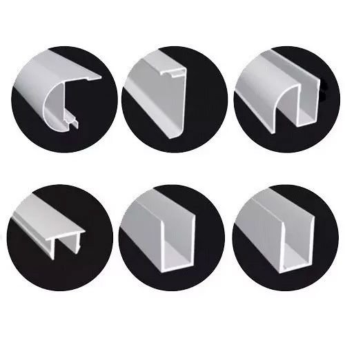 KIT BOX F3 1,80 m (Acessórios + Perfis) para 2 vidros fixos e 2 vidros móveis