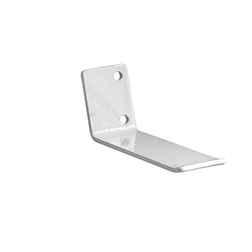 Mola guia em aço inox de 80X25 mm para envidraçamento de sacadas branca