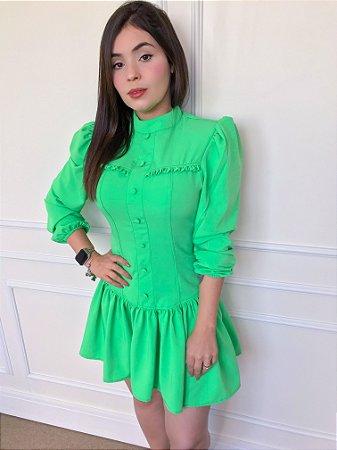 Vestido Peplum Pimpinela Verde