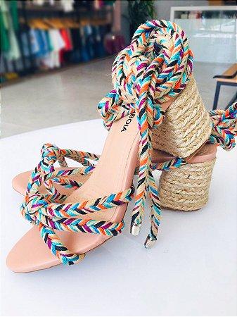 Sandália cordão rústico