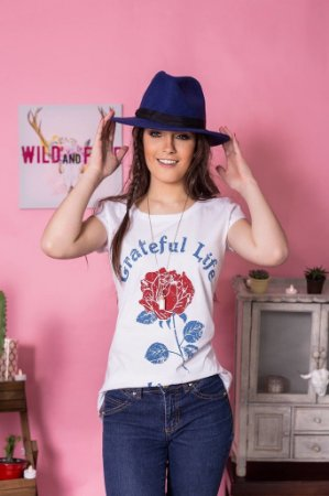 Camiseta Feminina Grateful Life