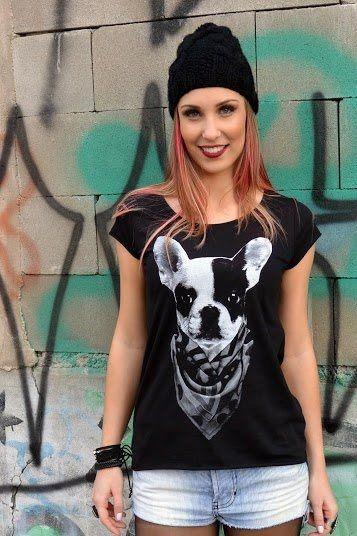 Camiseta Feminina Buldogue