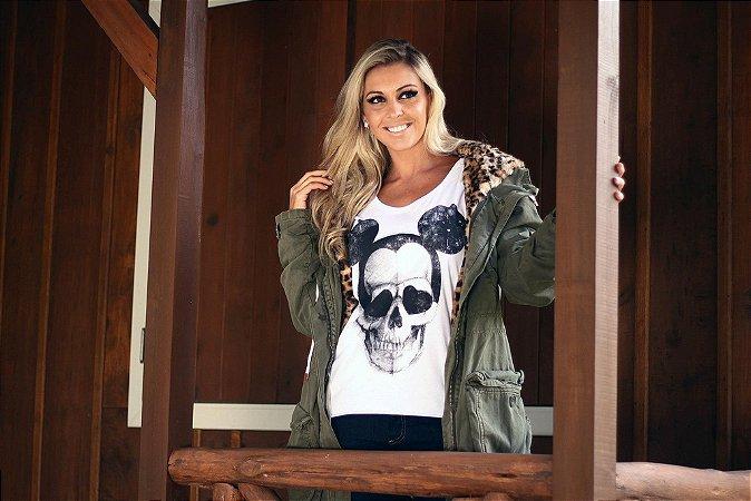 Camiseta Feminina MM Caveira