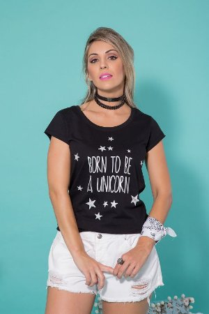 Camiseta Feminina Born Unicorn