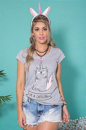 Camiseta Feminina Caticorn