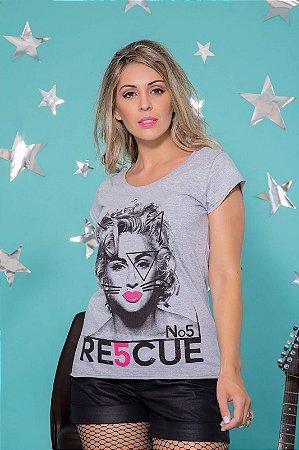 Camiseta Feminina Madonna Gato