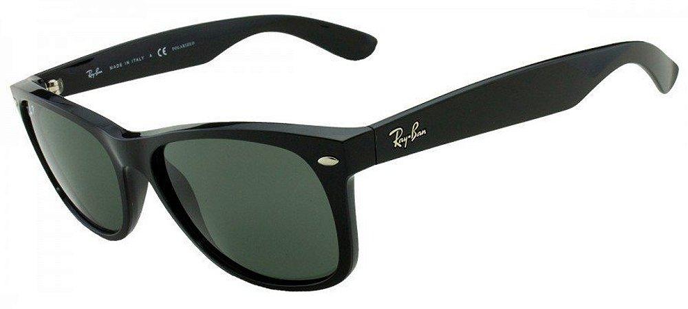 9f318f70fb669 Óculos de Sol Ray-Ban New Wayfarer Classic RB2132 901 58 Polarizado ...