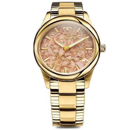 Relógio Technos Feminino Signature Elegance Stone Collection Analógico 2033CN/4T