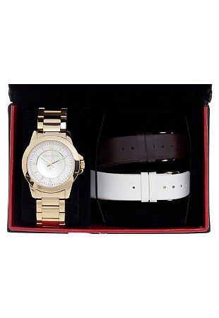 Relógio Technos Feminino Elegance St. Moritz Analógico Troca Pulseiras  2036IG 4B cc7a435e6b