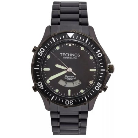 627b76546d8f6 Relógio Technos Masculino Performance Skydiver Anadigi T205IY 4P ...