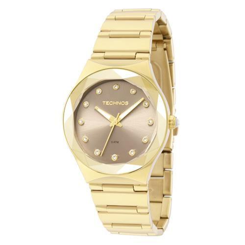 db7701e1a425d Relógio Technos Feminino Elegance Crystal Swarovski Analógico 2035MFH 4C